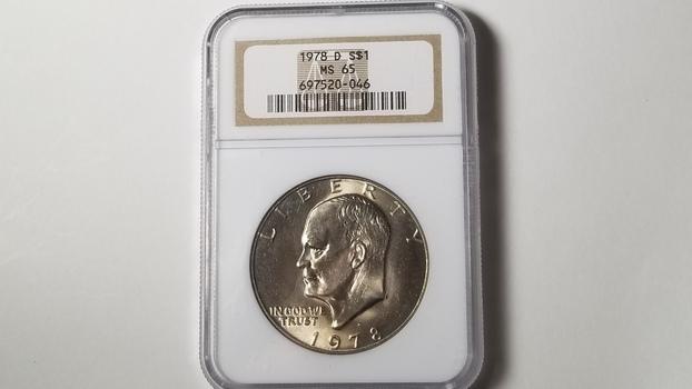 1978 D Eisenhower Dollar NGC Graded MS65