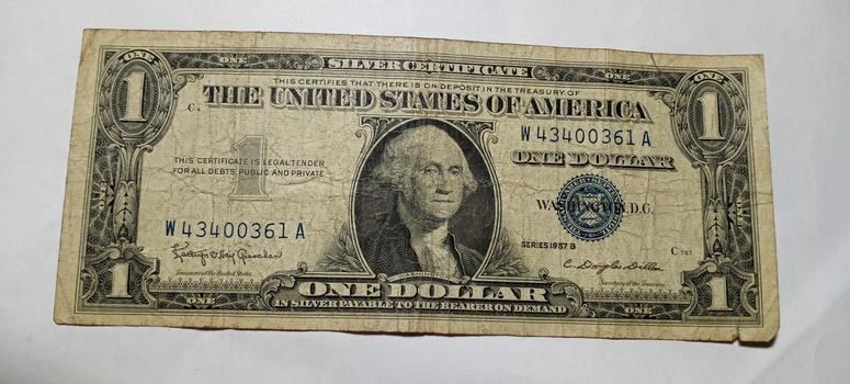 1957 $1 Bank Note Currency Silver Certificate