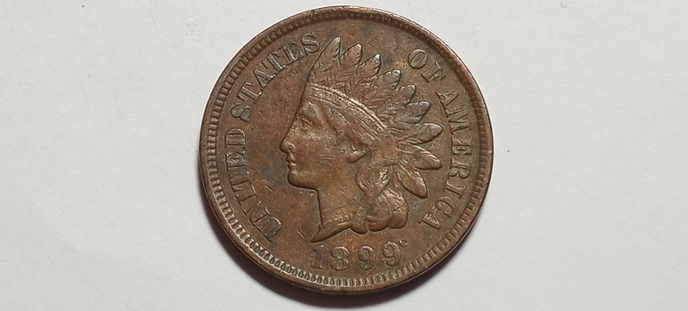 1899 Indian Head Cent Penny High Grade