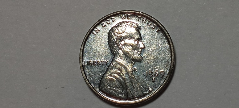 1969 S Lincoln Cent Penny Steel?