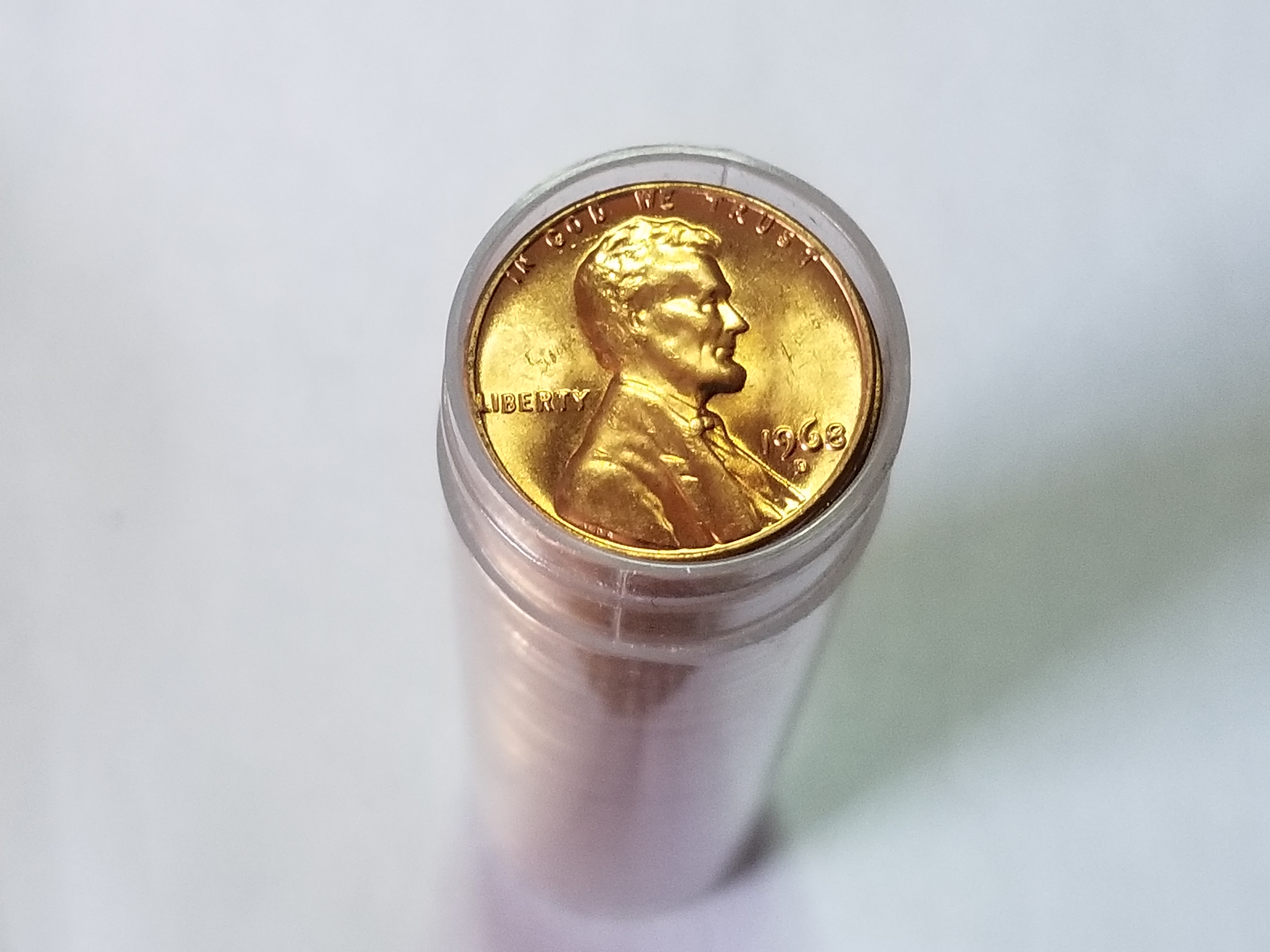 1968 D Lincoln cent Penny original roll gem uncirculated red
