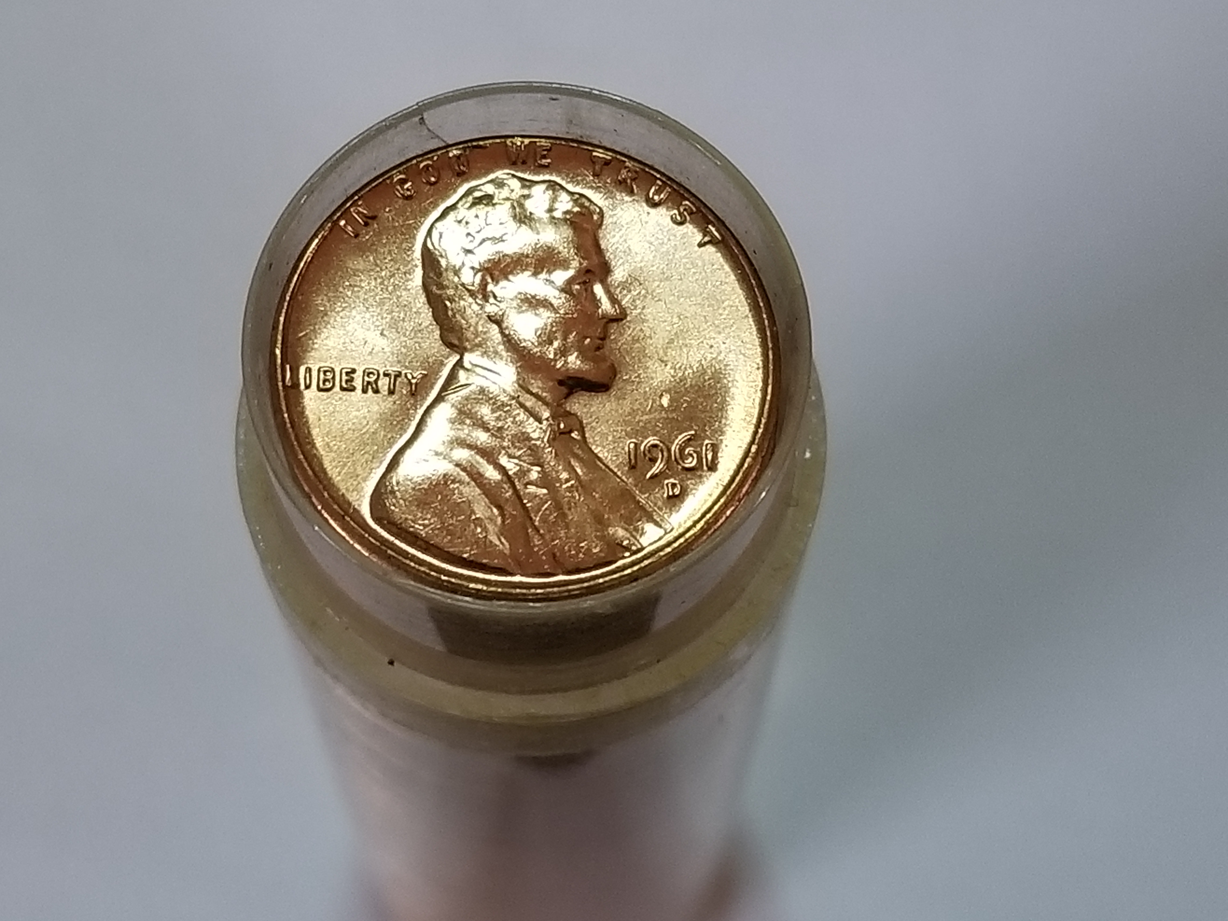 2017  D   Lincoln  Cents roll 50 coins Brilliant Uncirculated