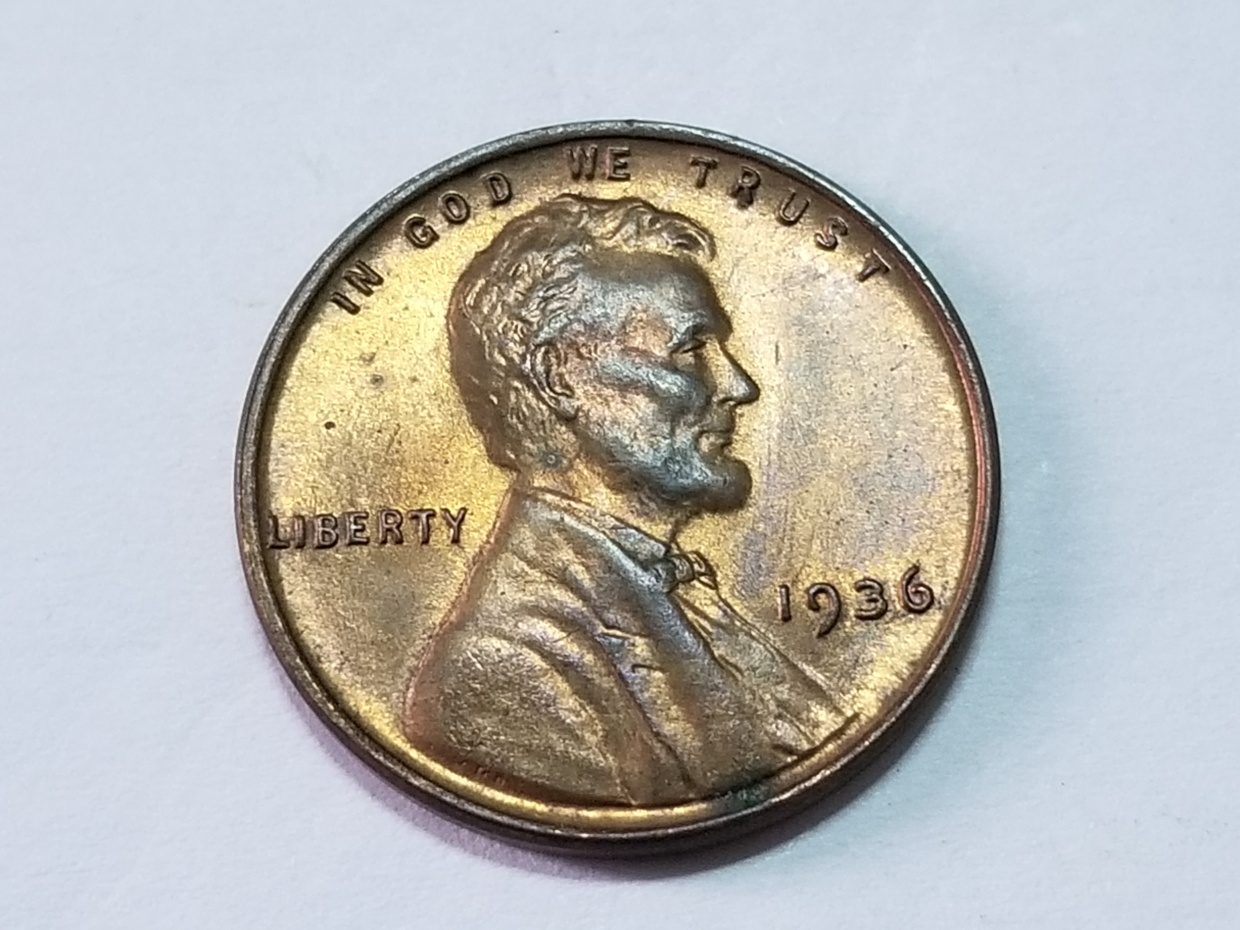 1936 Lincoln Cent Wheat Penny Uncirculated   Property Room