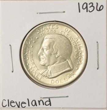1936 Cleveland Commemorative Half Dollar Coin