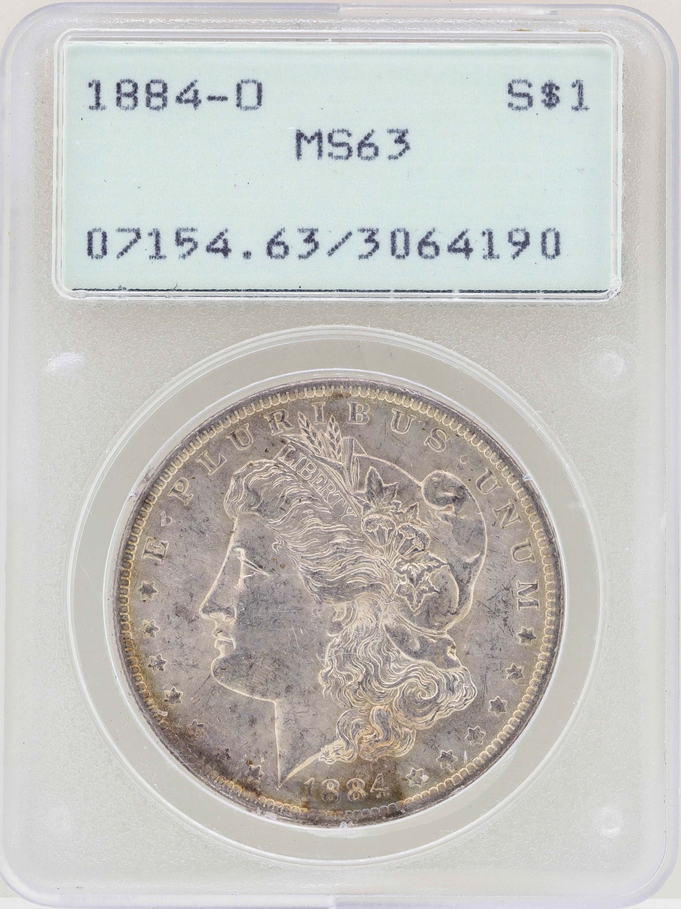 1884-O US Morgan Silver Dollar $1 PCGS MS63 PL