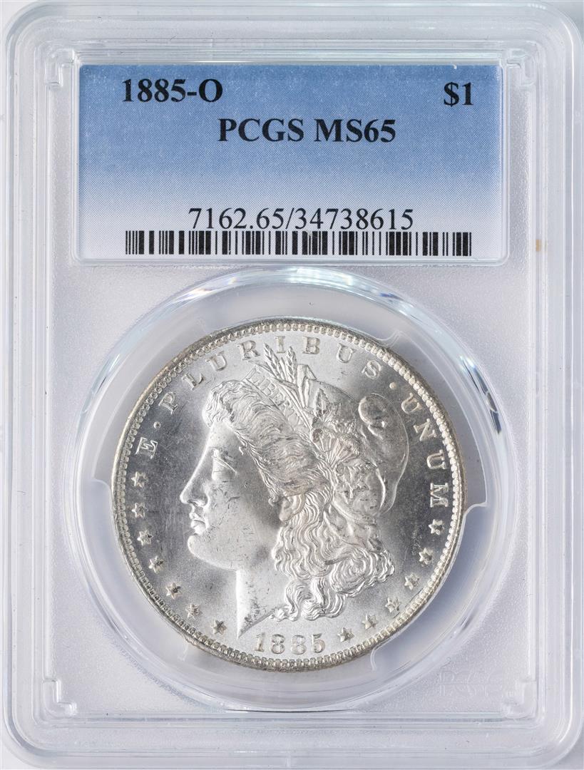 NGC MS65 1885-O US Morgan Silver Dollar $1