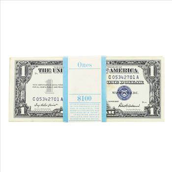 Pack of (100) Consecutive 1957 $1 Silver Certificate Notes ...
