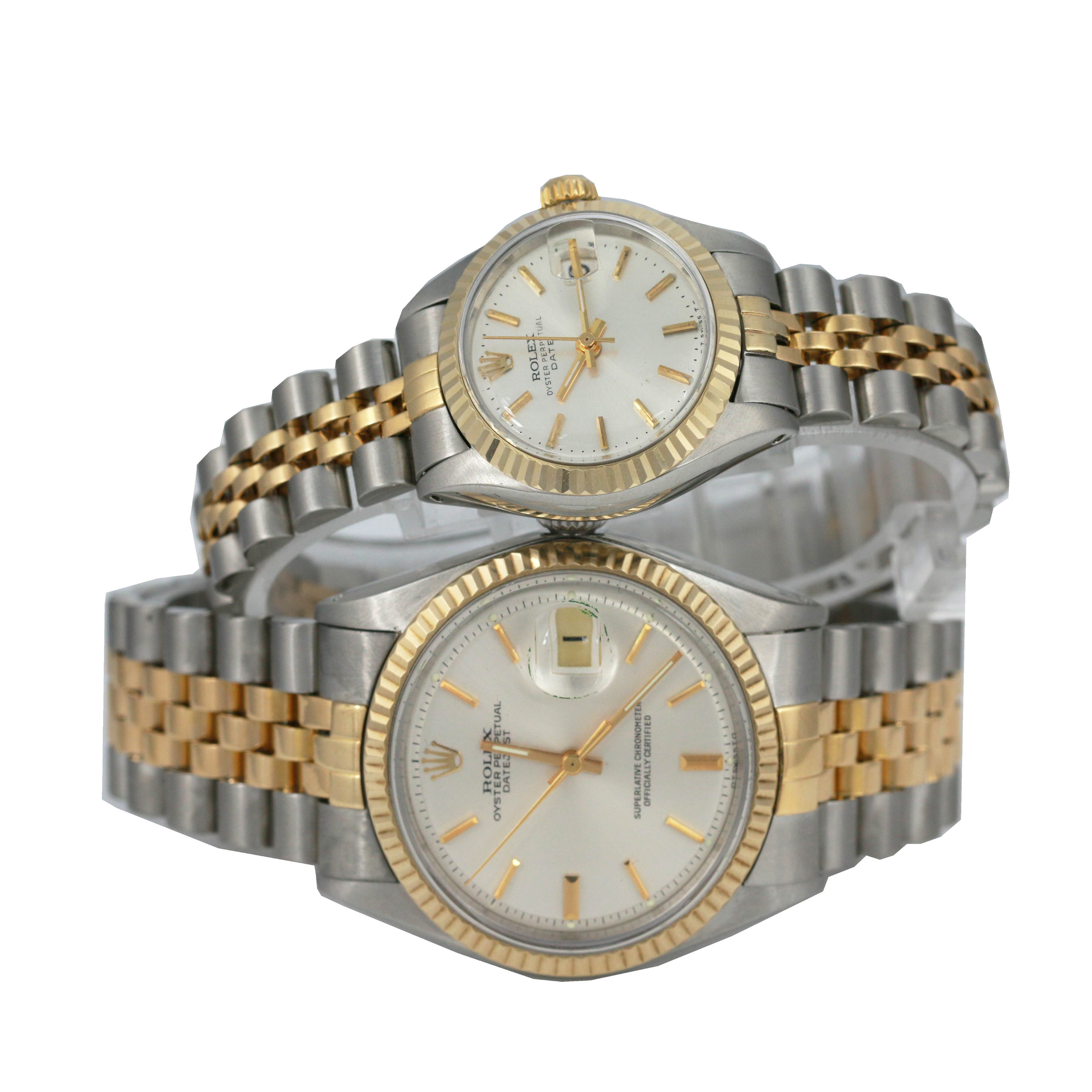 Couple Watch Rolex Mens and Lady Datejust All Factory Pre owned