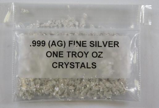 1 oz .999 Fine Pure Silver Crystals