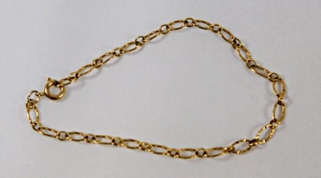"12K Gold-filled 5 1/4"" Ladies Bracelet*Dainty Links"