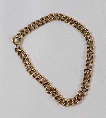 """12K Gold-filled 7 1/2"""" Bracelet*Men's or Ladies"""
