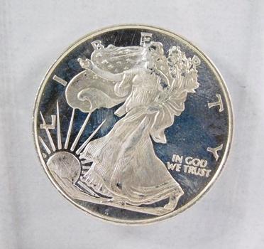 1/2oz .999Fine Silver*Design Like Walking Liberty*Money Metals Exchange
