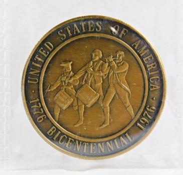 1776-1976 United States Bicentennial Bronze Medallion