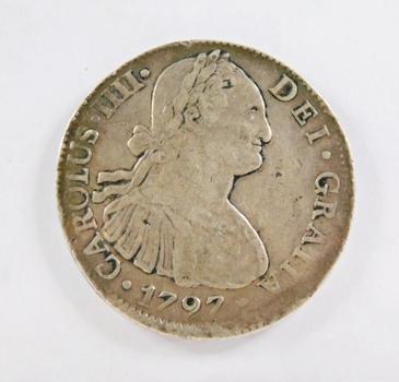 1797 Silver Mexico Spanish Colony 8 Reales*ASW .7797oz