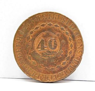 1830 Brazil 40 Reis