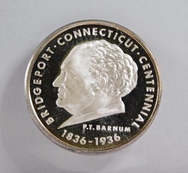 1836/1936 Bridgeport, Connecticut Centennial Commemorative - 1 Troy oz .999 Fine Proof Silver Round