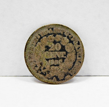 1850A France Silver 50 Centimes