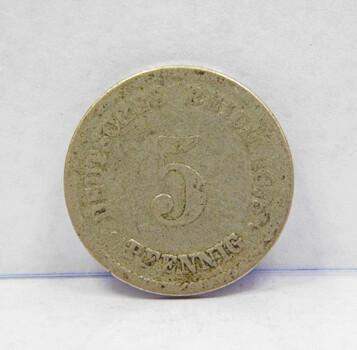 1875 Germany 5 Pfennig