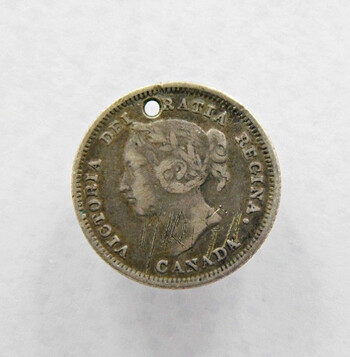 1881 Canada Silver 5 Cents Better Grade