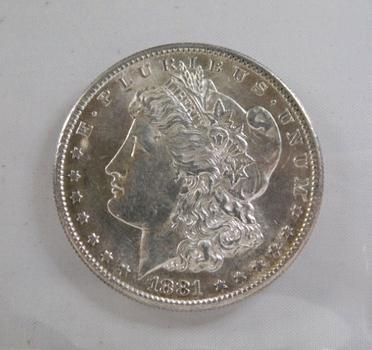 1881-S Morgan Silver Dollar*San Francisco Minted*Brilliant Uncirculated