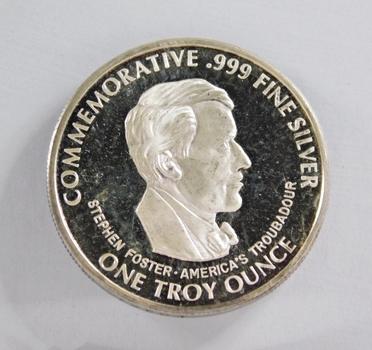 1886/1936 Music Center of America Commemorative - 1 Troy oz .999 Fine Proof Silver Round