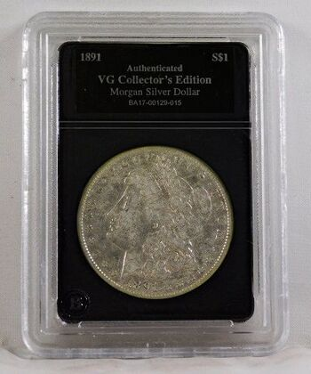 1891-O Morgan Silver Dollar*Authenticated VG Collector's Edition*New Orleans Minted