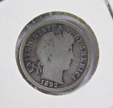 1892 Silver Barber Dime
