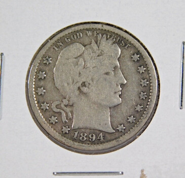 1894-S Silver Barber Quarter