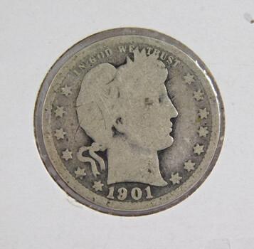 1901 Silver Barber Quarter
