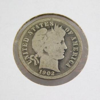 1902 Silver Barber Dime Better Grade
