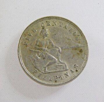 1903 Philippines 5 Centavos*Nice Detail