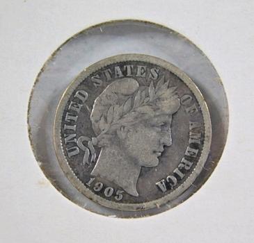 1905 Silver Barber Dime*Better Grade