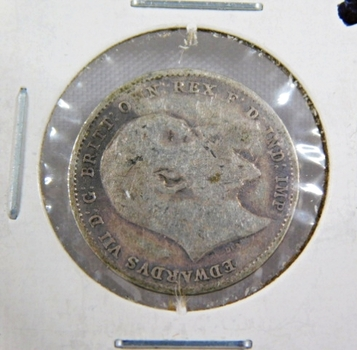 1907 British Silver 3 Pence High Grade