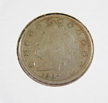 "1907 Liberty Head ""V"" Nickel"