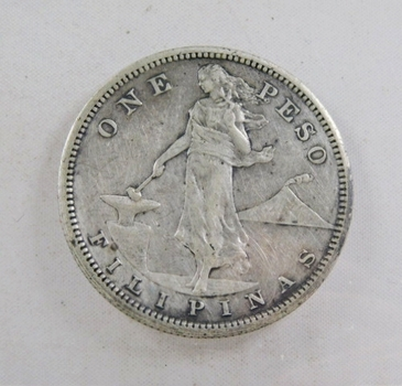 1908-S Philippines Silver Peso - U.S. Administration - San Francisco Minted