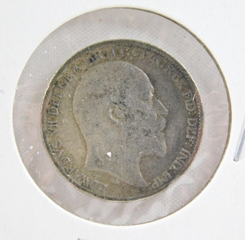 1909 Great Britain Silver 6 Pence