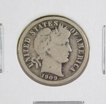 1909 Silver Barber Dime High Grade