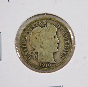 1910 Barber Silver Dime