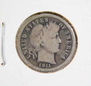 1911 Silver Barber Dime High Grade