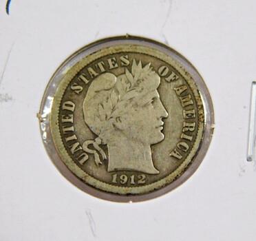 1912 Barber Silver Dime