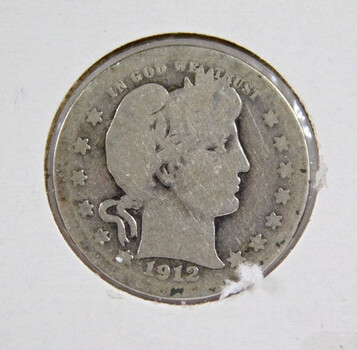 1912 Silver Barber Quarter