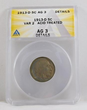 1913-D Type 2 Buffalo Nickel - ANACS Graded
