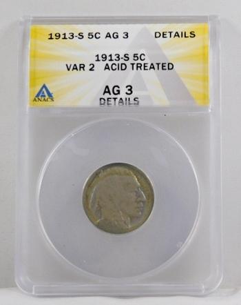 1913-S Type 2 Buffalo Nickel - ANACS Graded