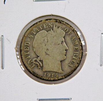 1914 Barber Silver Dime
