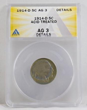 1914-D Buffalo Nickel - ANACS Graded