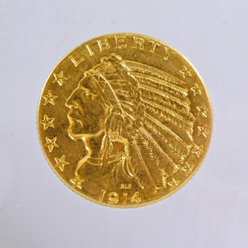 1914-D Gold $5 Indian Head Half Eagle