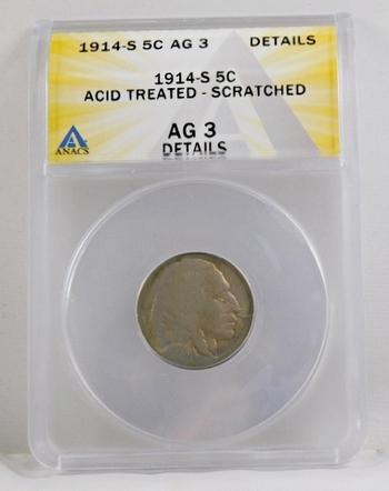 1914-S Buffalo Nickel - ANACS Graded