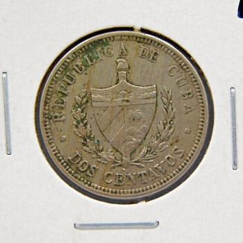 1915 Cuba 2 Centavos High Grade