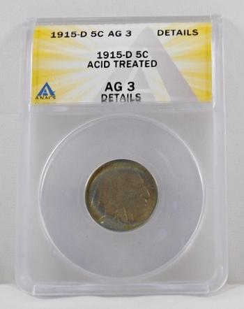 1915-D Buffalo Nickel - ANACS Graded