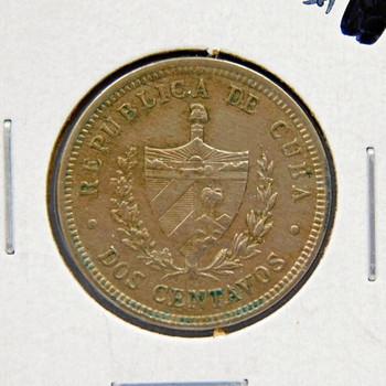 1916 Cuba 2 Centavos High Grade